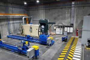Rotor & shaft polish & blast equipment